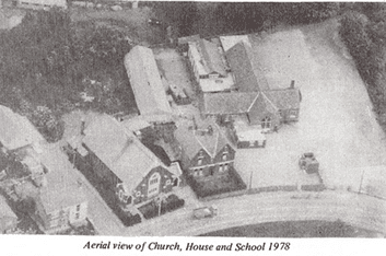 Aerial view of the Parish of Westleigh 1978