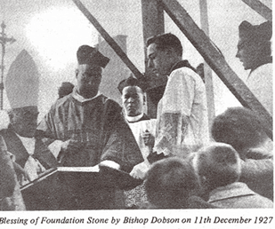 Blessing of the foundation stone 1927