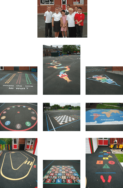 New markings for the junior and infant playgrounds