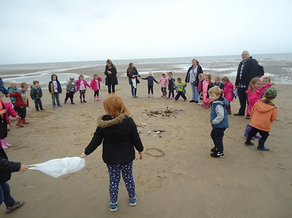 Reception Class visit to Formby Beach - July 2017 6